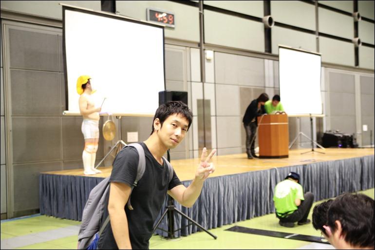 大川さんいえーい。みんな見てる!